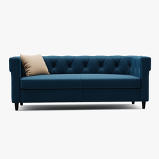 Chester tufted upholstered sofa 3D Model