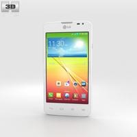 LG L65 Dual White 3D Model