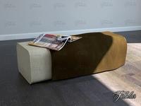 Rattan pouf 01 3D Model
