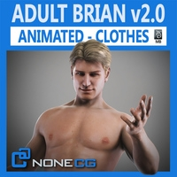 Animated Male Brian v2.0 3D Model