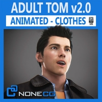 Animated Male Tom v2 3D Model