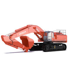 Excavator Hitachi Zaxis 800 3D Model