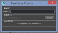 Free flexiplane Creator for Maya 1.1.5 (maya script)