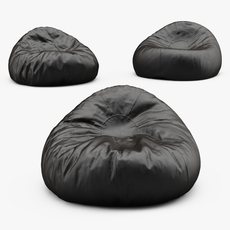 Grand Leather Bean Bag Chair 3D Model