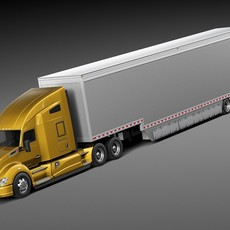Kenworth T680 2015 Trailer 3D Model