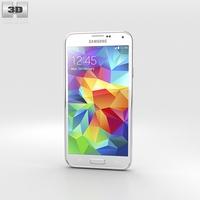 Samsung Galaxy S5 G9009D White 3D Model