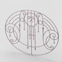 Decorative wrought iron lattice 3D Model