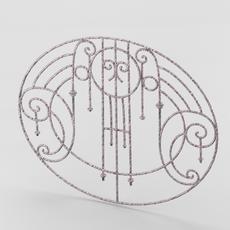 Decorative wrought iron lattice 3D Model