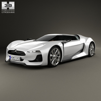 Citroen GT with HQ interior 2008 3D Model