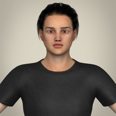 Realistic Handsome Teenage Boy 3D Model