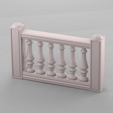 Decorative balustrade 3D Model