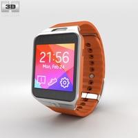 Samsung Galaxy Gear 2 Orange 3D Model