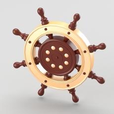 Decorative nautical helm 3D Model