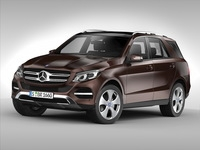 Mercedes Benz GLE Class (2016) 3D Model