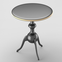 Decorative table in chrome and gold 3D Model