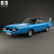 Plymouth Road Runner Superbird 1970 3D Model