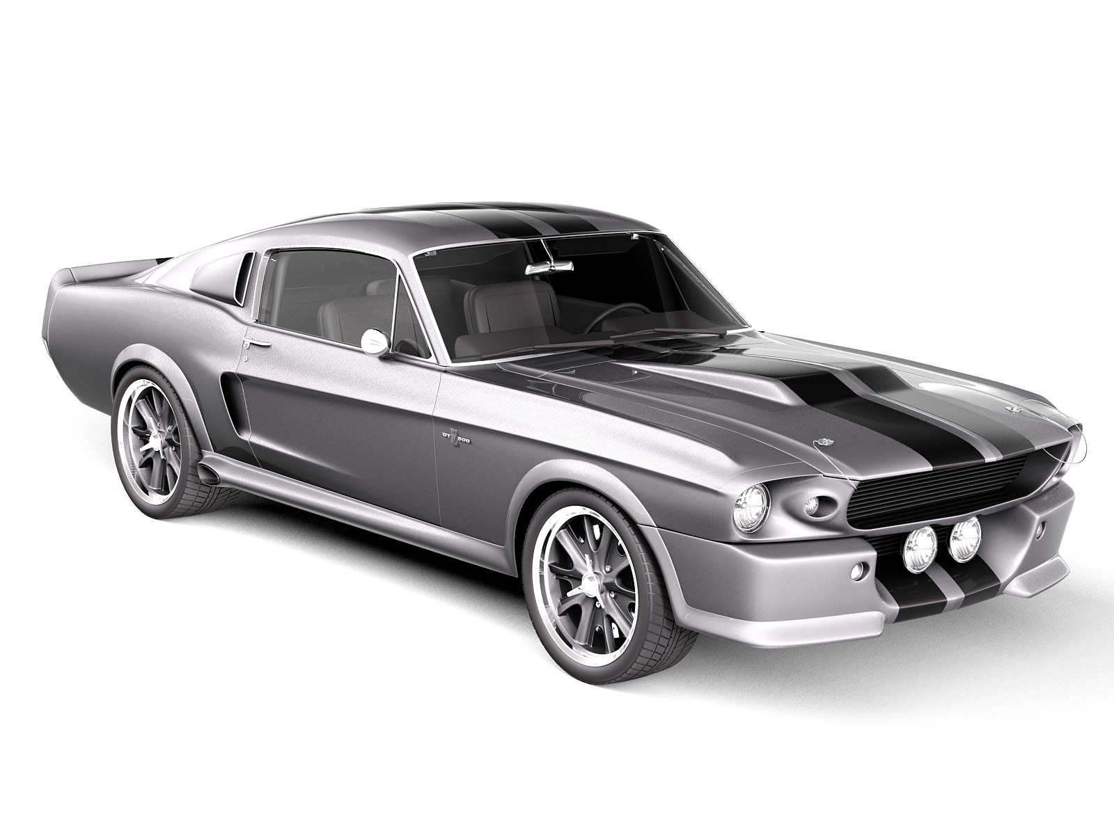 eleanor ford mustang gt500 shelby cobra classic 1967 3d model. Black Bedroom Furniture Sets. Home Design Ideas
