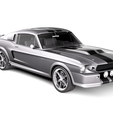 Eleanor Ford Mustang GT500 Shelby Cobra Classic 1967 3D Model