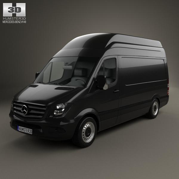 Mercedes-Benz Sprinter Panel Van SWB SHR 2013 3D Model