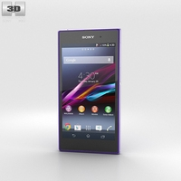 Sony Xperia Z1 Purple 3D Model