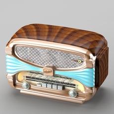 Retro radio in art deco style 3D Model