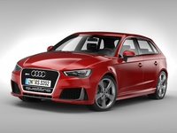 Audi RS3 Sportback (2016) 3D Model