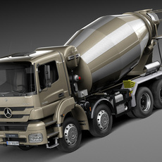 Mercedes-Benz Axor 3240B Cement Mixer 2015 3D Model