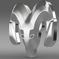 Dodge wheel logo 3D Model