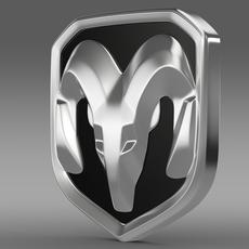 Dodge RAM logo 3D Model