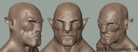 Free Azog Head 3D Model