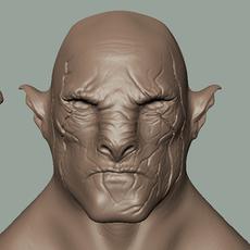 Azog Head 3D Model