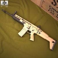 FN SCAR-L 3D Model