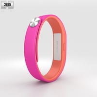 Sony Smart Band SWR10 Fushia 3D Model