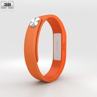 Sony Smart Band SWR10 Orange 3D Model