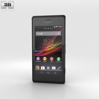 Sony Xperia M Black 3D Model