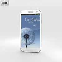 Samsung Galaxy S3 Neo Marble White 3D Model