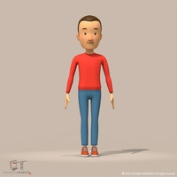 cartoon man 3D Model