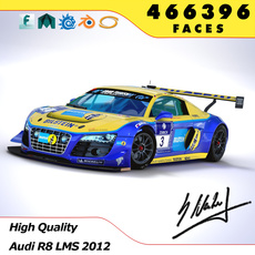 Audi R8 LMS 2012 Winner 24h Nürburgring 3D Model