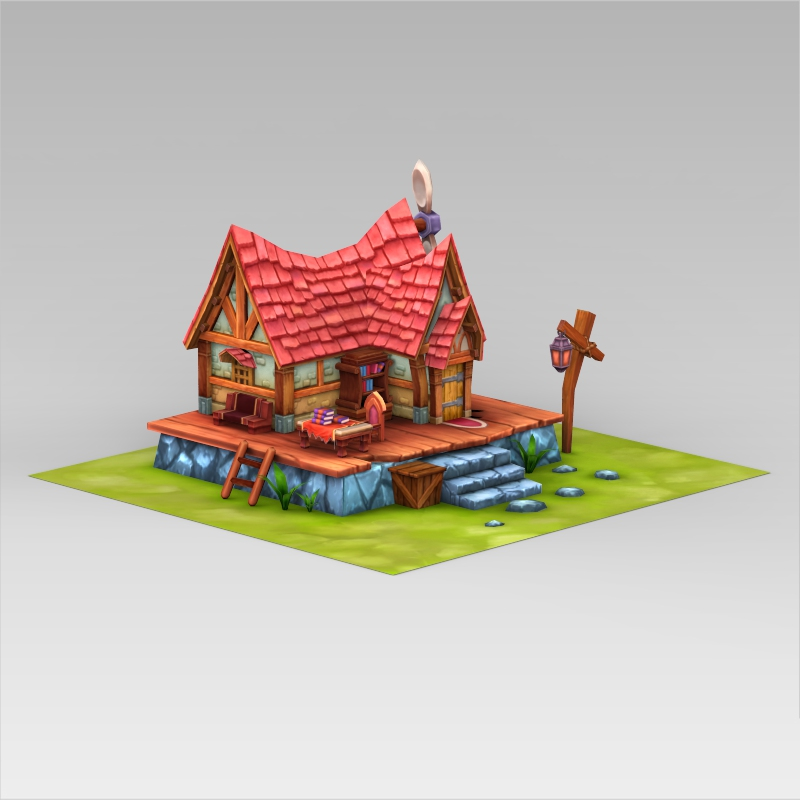 Fantasy sweet home 3d model Home 3d model
