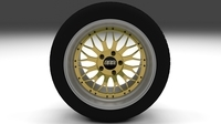BBS Wheel Gold 3D Model