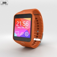 Samsung Gear 2 Neo Orange 3D Model