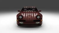 Porsche 944S w interior 3D Model