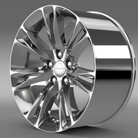 Chrysler 300C 2015 rim 3D Model