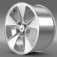 Dacia Logan rim 3D Model