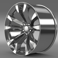 Chrysler 300C Platinum 2015 rim 3D Model