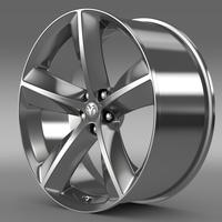 Dodge Challenger SRT8 rim 3D Model