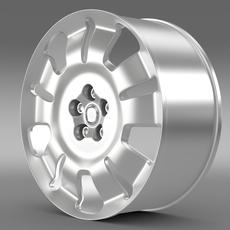Fiat Doblo Work rim 2015 3D Model
