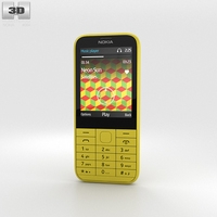 Nokia 225 Yellow 3D Model