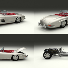 Fully Modelled Mercedes 300SL Roadster 3D Model