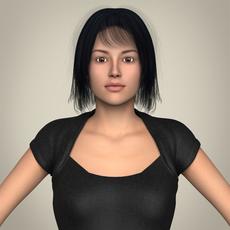 Realistic Beautiful Modern Woman 3D Model